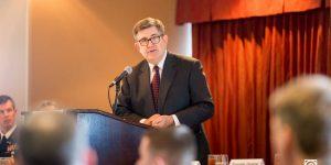 Former Secretary of Navy Speaks at Military Update