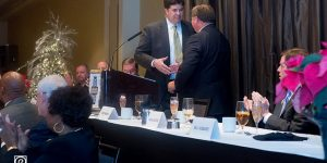 Toby Moreau Passes Gavel to Trey Cook at 2014 Annual Meeting