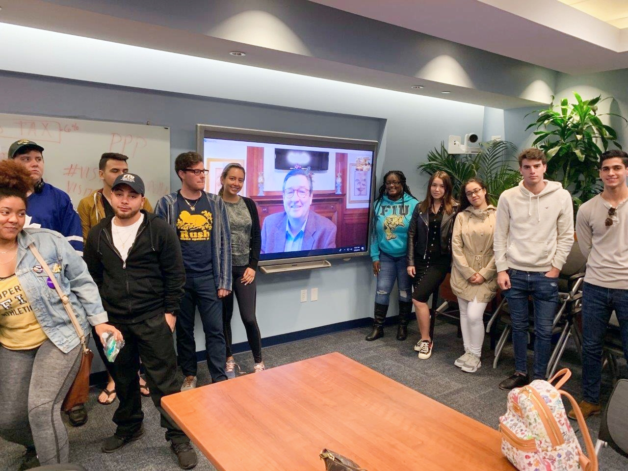Senior VP Lectures to Hospitality Students Via Skype
