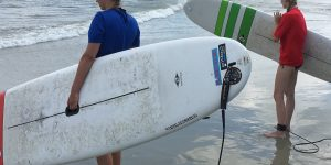 Visit Tybee and Visit Savannah Staff Surf with Tybee Surf Lessons