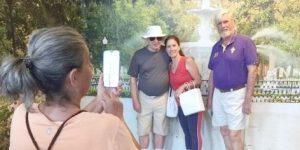 International Visitors Enjoy New Photo Opp Spot at VIC