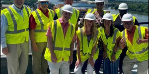 Visit Savannah Team Gets Hardhat Preview Tour of New Thompson Hotel