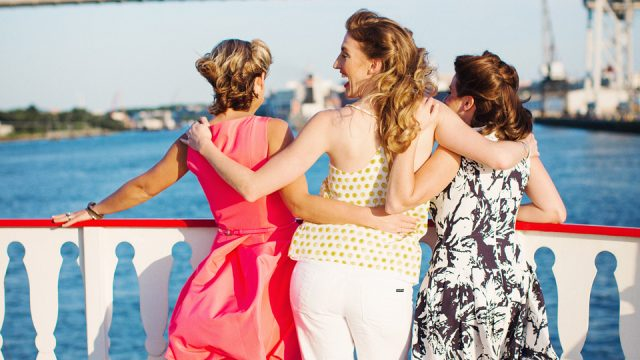 Girlfriends aboard Savannah Riverboat Cruises