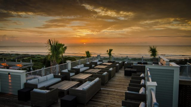 The Jekyll Ocean Club's rooftop offers unparalleled views of the Atlantic.