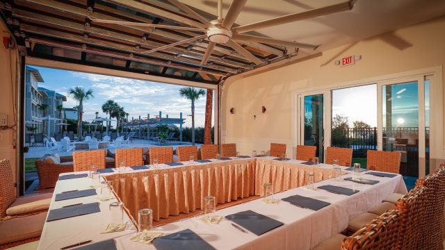 The Astor Room is located at the Jekyll Ocean Club and is oceanfront and poolfront!