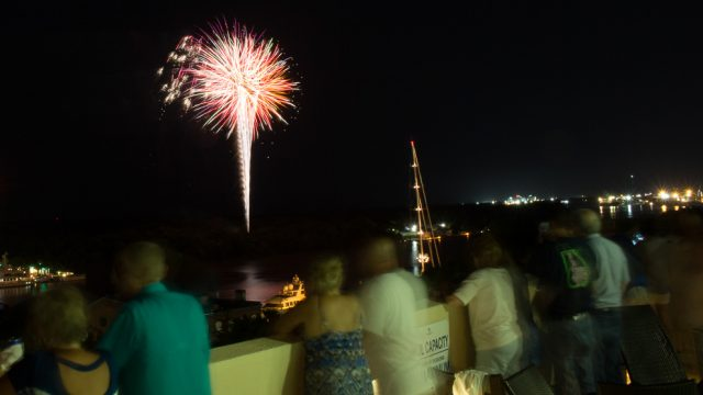 Fireworks from the Rooftop