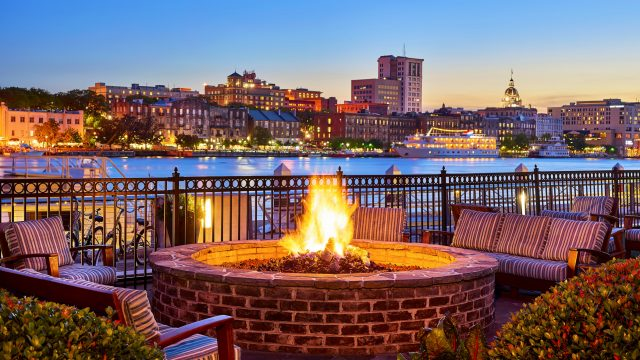 Westin Savannah Harbor Fire Pit