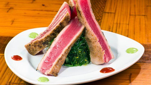 Seared Tuna and Seaweed Salad