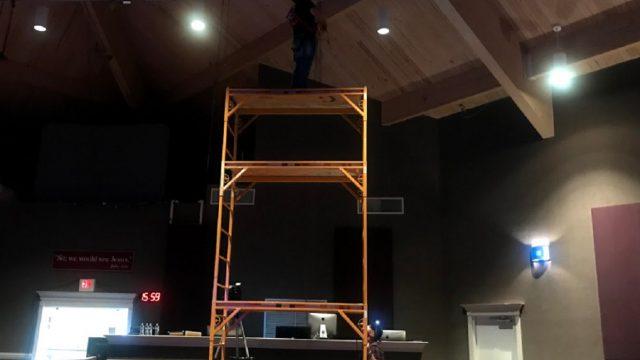 Sanctuary Lighting Install