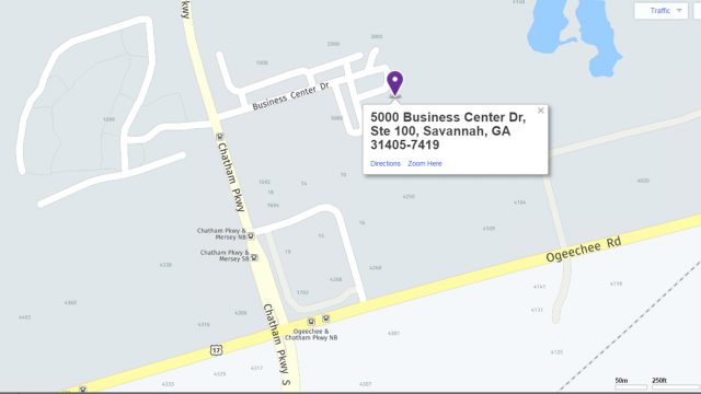 Map of Business Center Drive