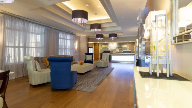 Holiday Inn Express Lobby and Front Desk