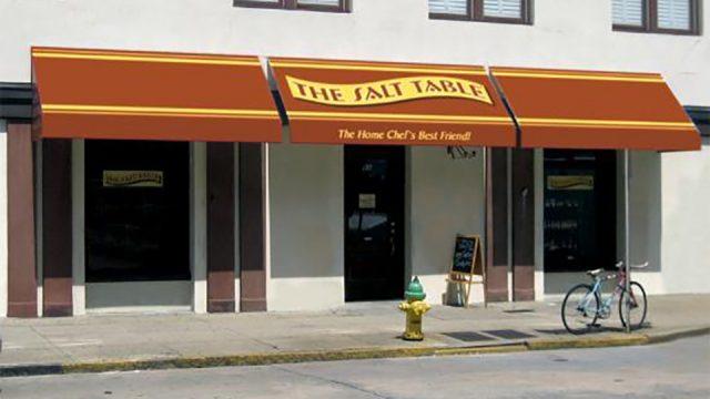 Entry to Savannah's Salt Table's 51 Barnard Street location near City Market!