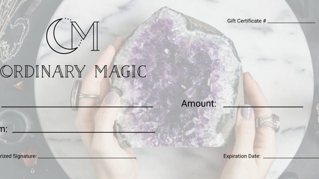 Gift Card-Ordinary Magic